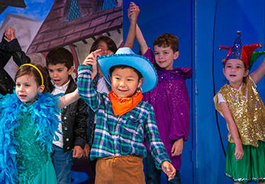 kids in children's theater production