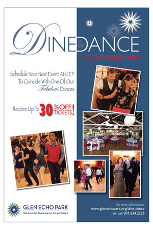 Dine and Dance flyer with 30 discount