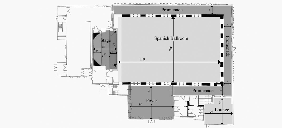 Layout of Spanish Ballroom