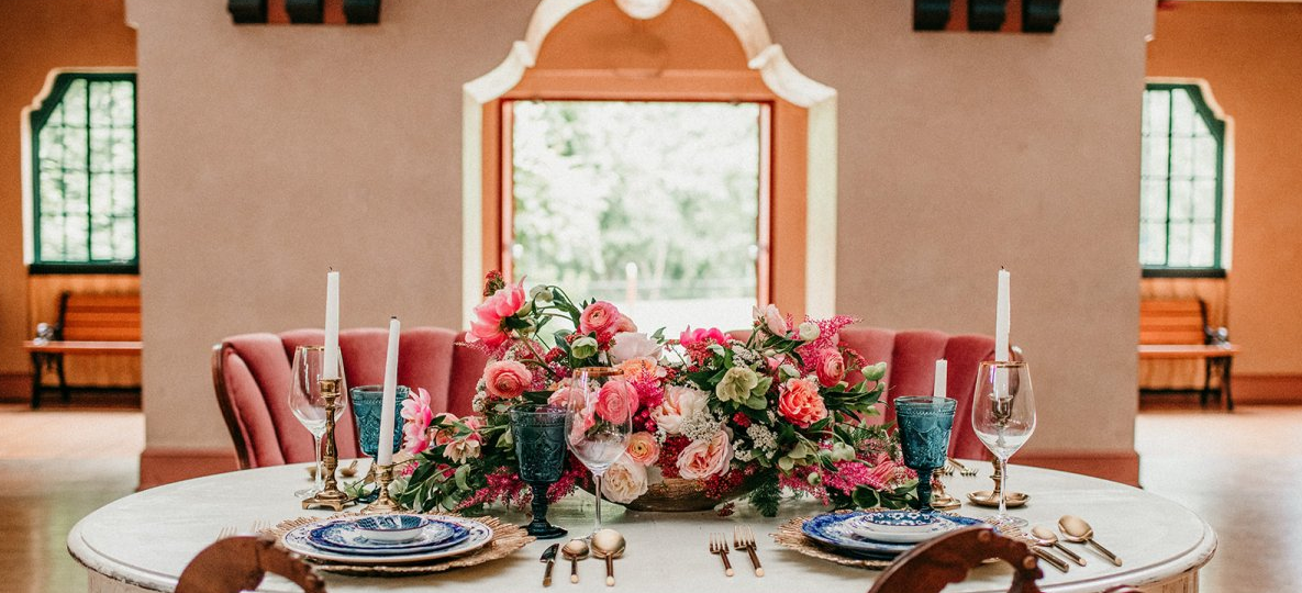Spanish Ballroom sample of table setting